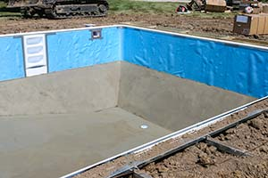 Photo gallery milestone pool service llc for Vermiculite swimming pool base